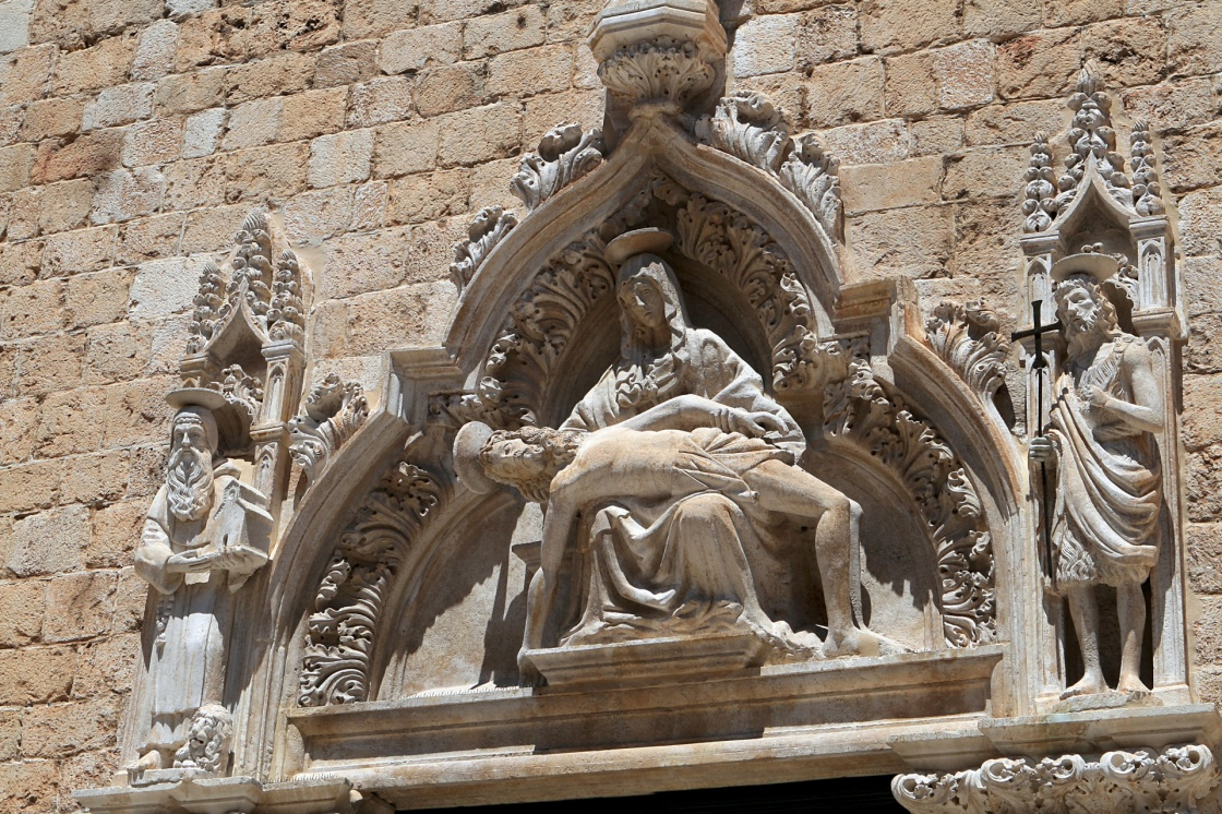 'The Franciscan monastery sculpture in Dubrovnik' - Dubrownik